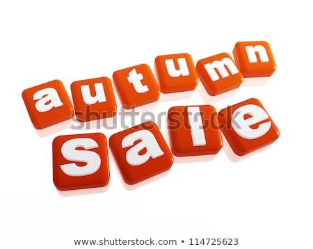 autumn sale   text in orange cubes stock photo © marinini