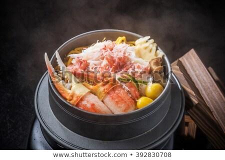 Buhar pot gıda yangın akşam yemeği hizmet Stok fotoğraf © happydancing