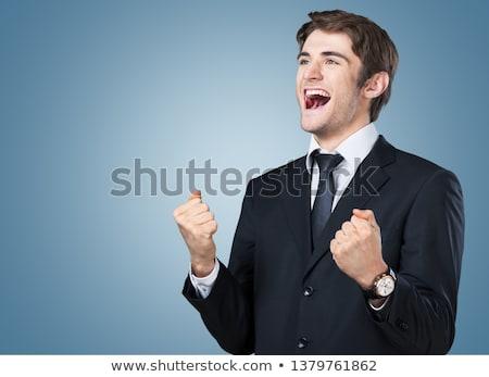 Portrait of a businessman rejoicing stock photo © photography33