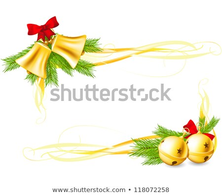 Set of Christmas decoration bells made with gradient mesh Stock photo © Winner