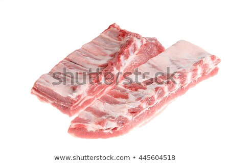tasty uncooked pork ribs and meat stock photo © arsgera