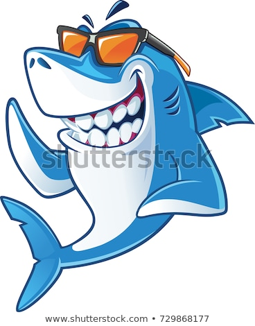 Rekina cartoon zły ryb charakter tle Zdjęcia stock © dagadu