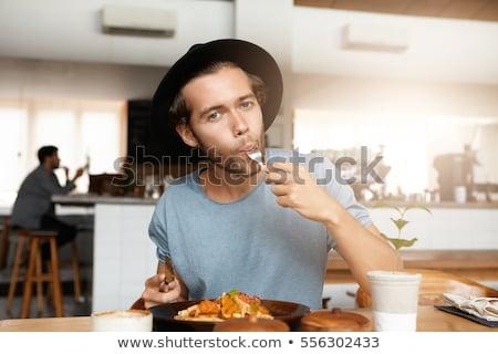 Man eating breakfast alone Stock photo © photography33