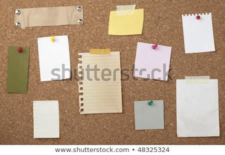 ensemble · note · papiers · bois · affaires - photo stock © inxti