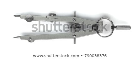 a drafting compass isolated on a white Stock photo © shutswis