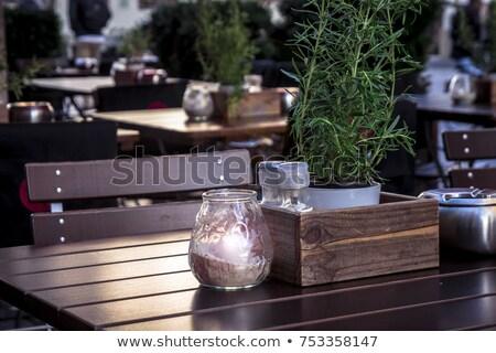 ストックフォト: 灰皿 · 手 · 白 · たばこ · シガー