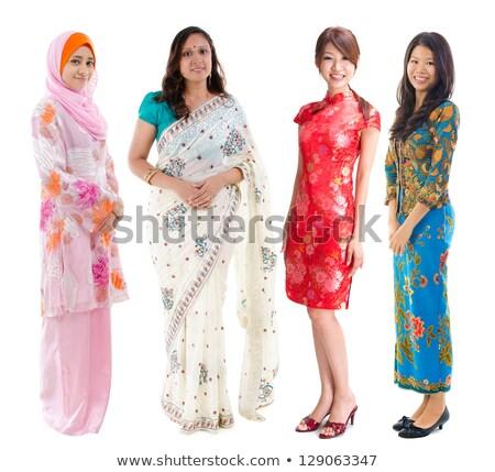 юго-восток азиатских девушки улыбаясь белый Сток-фото © szefei