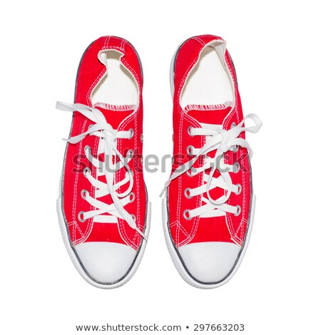 topview of shabby boot and sneaker stock photo © pterwort