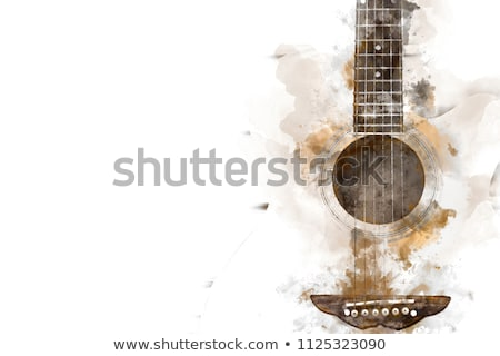 background with a guitar stock photo © lina0486