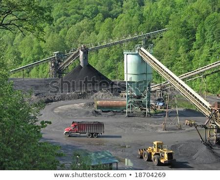 石炭 · 側面図 · 青空 · 背景 · 青 - ストックフォト © rob300