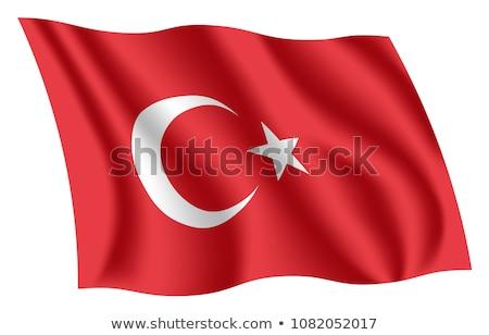 Török zászló integet 3d illusztráció közelkép sportok Stock fotó © grasycho