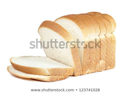 ストックフォト: スライス · 白パン · 孤立した · 白 · テクスチャ · パン