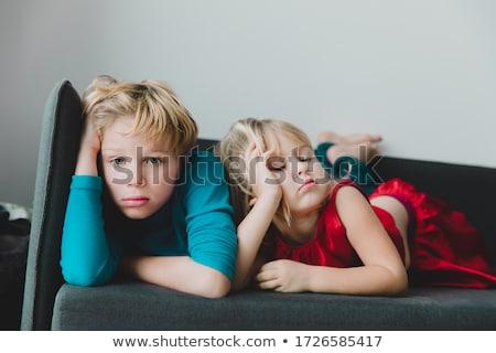 скучно · ребенка · молодые · назад · школы · Председатель - Сток-фото © photography33