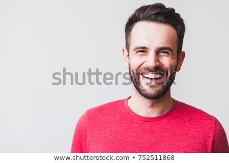 человека смеясь красный усы борода Сток-фото © sframe