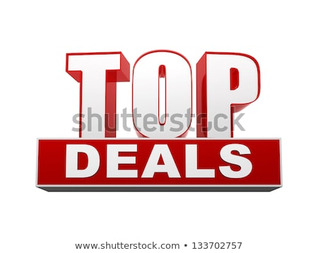 top deals red white banner   letters and block stock photo © marinini