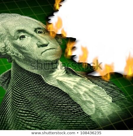 инвестиции финансовых долг кризис бумажные деньги икона Сток-фото © Lightsource