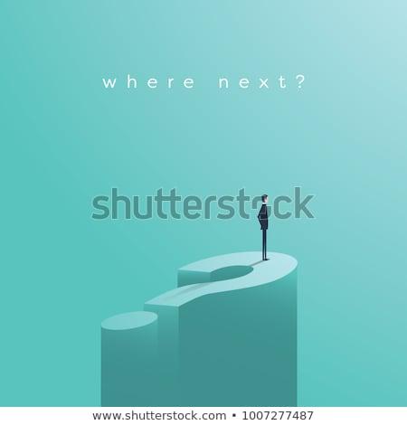 Objectifs question bleu Dart métal aiguille Photo stock © Lightsource