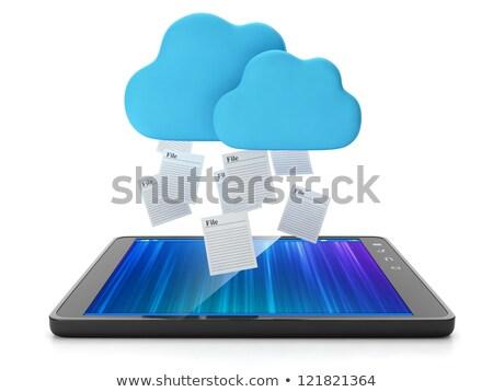 nuvem · comprimido · grupo · arquivos · computador - foto stock © kolobsek