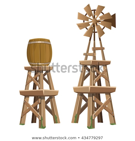 Old Wooden Water Tower Stok fotoğraf © lady-luck