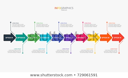 Workflow procede diagram pijlen meervoudig diagrammen Stockfoto © cteconsulting
