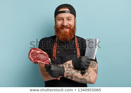 Chef holding meat cleaver stock photo © wavebreak_media