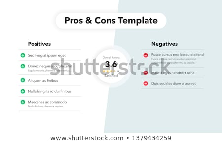 Vector pros and cons compare template Stock photo © orson