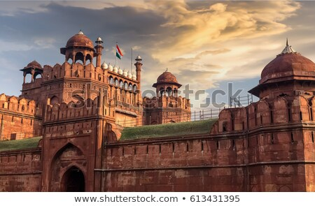 Lahore Gate of Red Fort in Delhi, India. stock photo © Klodien