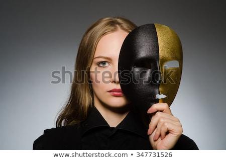 女性 · マスク · 面白い · 芸術 · 劇場 · ワーカー - ストックフォト © elnur