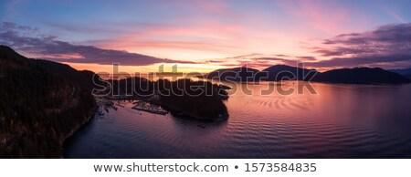 At nalı feribot tekneler Vancouver Kanada sonbahar renkleri Stok fotoğraf © billperry
