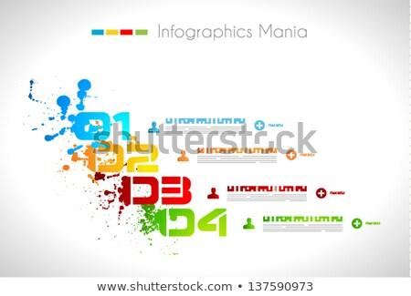 Infografica grunge design carta display Foto d'archivio © DavidArts