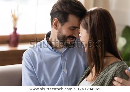 Sweethearts. Beautiful Beloved Couple Flirting Together Stock photo © gromovataya