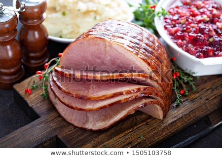 Presunto alface carne close-up vertical Foto stock © MKucova