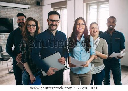 mutlu · ofis · çalışanı · ofis · adam · iş · yüz - stok fotoğraf © egrafika