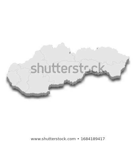 Black Slovakia map Stock photo © Volina
