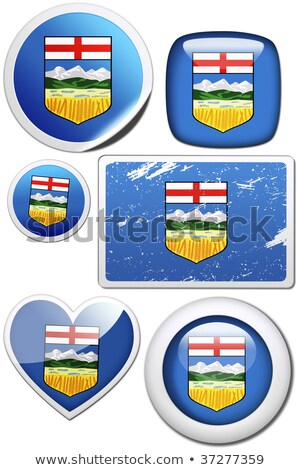 Set of stickers and buttons - Alberta (Canada)  Stock photo © flogel