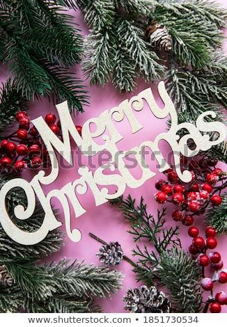 Verde Navidad chuchería cinta aislado Foto stock © karandaev