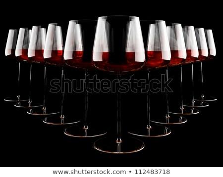 red wine tasting   3d render stock photo © elenarts