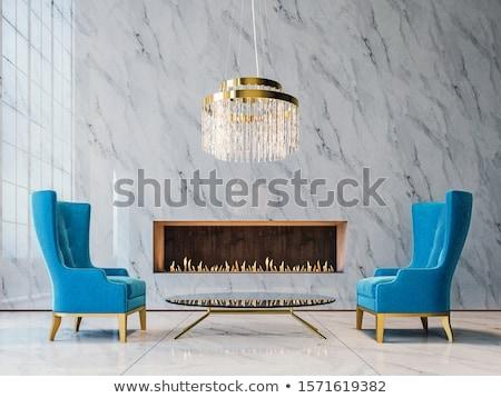 Contemporary glass chandelier  Stock photo © bbbar