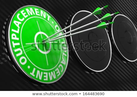 Сток-фото: зеленый · целевой · три · Стрелки · центр · черный