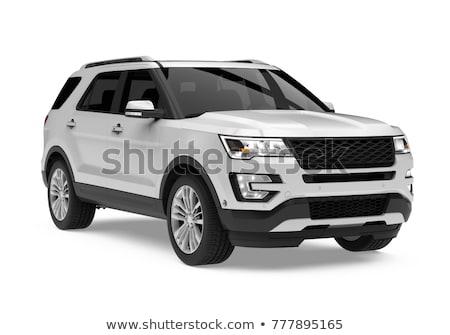 ストックフォト: 現代 · 高級 · 車 · 孤立した · 白 · ビジネス