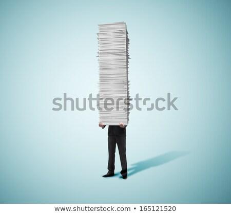 Empresario papel gráfico de barras dibujo negocios Foto stock © stevanovicigor