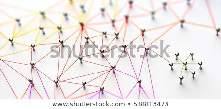 ネットワーク 構造 赤 黒 建設 技術 ストックフォト © silense