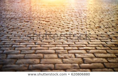 pattern of old cobble stone street Stock photo © meinzahn