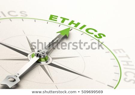 Ethik Wörterbuch Bestimmung Wort Buch Recht Stock foto © devon