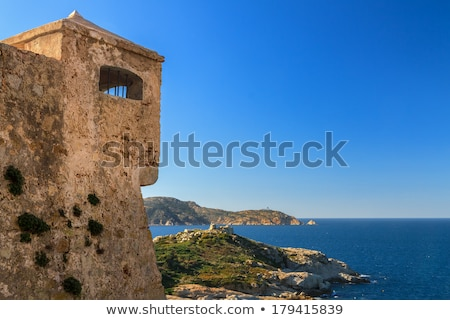 Entrance to the citadel in Calvi, Corsica Stock photo © Joningall