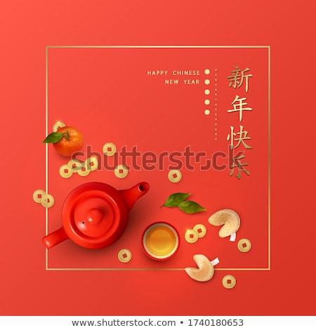 красный · чайник · изолированный · белый · фон - Сток-фото © belyaevskiy