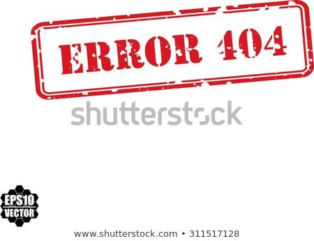 falso · blanco · rojo · sello · goma - foto stock © fotoscool