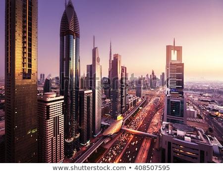 dubai downtown east united arab emirates architecture aerial stock photo © bloodua