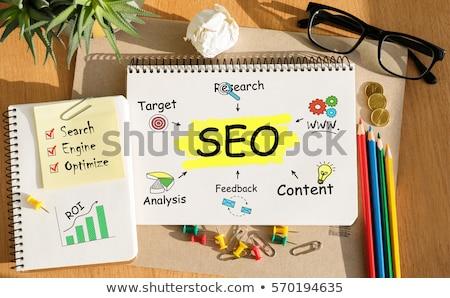 Seo idee internet abstract corporate Stockfoto © kiddaikiddee