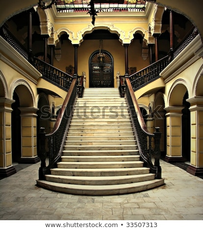Handrail on stairway in palace Stock photo © Nejron